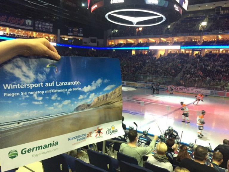 Turismo Lanzarote promociona la isla en la Liga Profesional de Hockey Hielo de Alemania