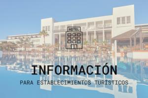 Información para establecimientos turísticos